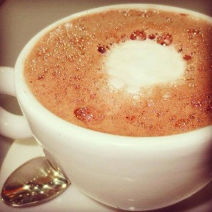 matcha cocoa latte