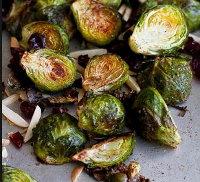 Cran Almond Brussel Sprouts
